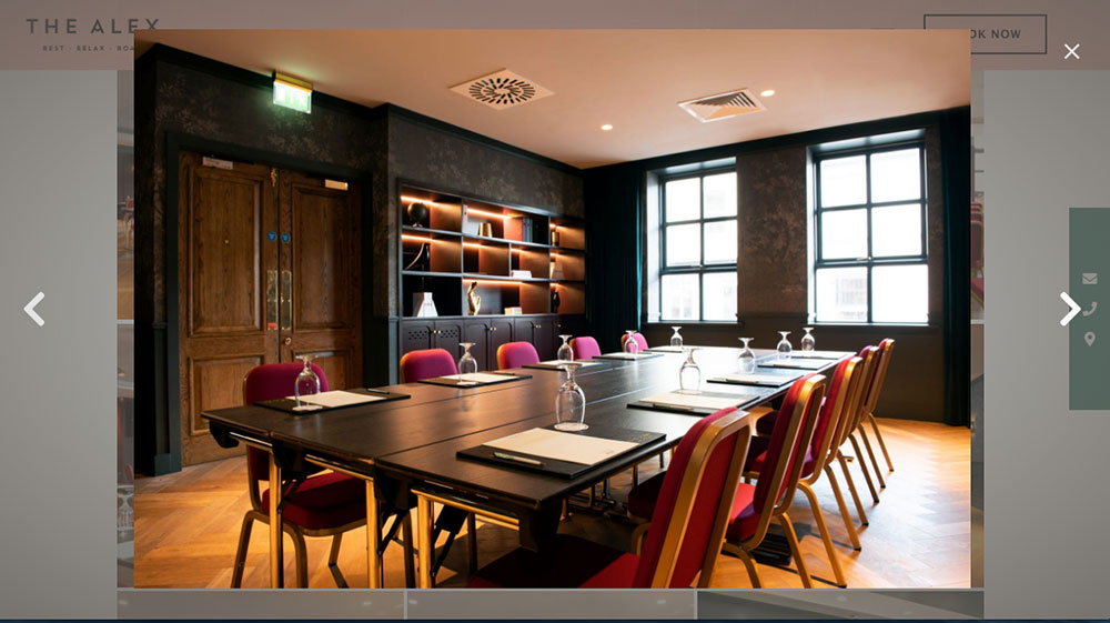 Commercial-Interiors-for The Alex Hotel in Dublin