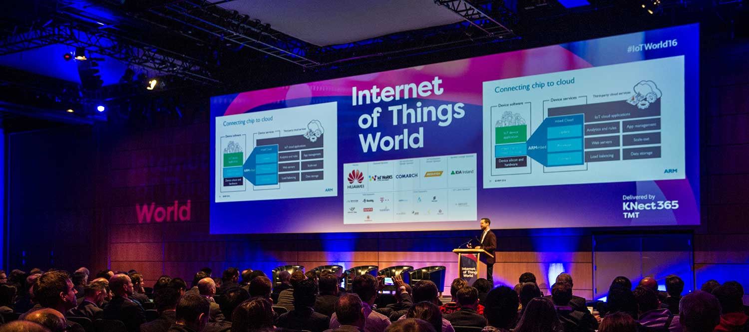 Conference Photography at The Internet of Things conference at the Convention Centre in Dublin